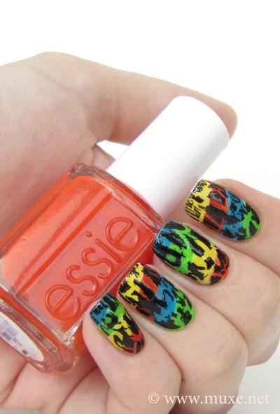 Rainbow nails - crackle