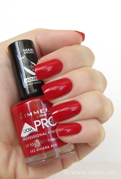 Riviera Red nail polish Rimmel