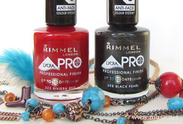 Rimmel nail polishes 323 and 398