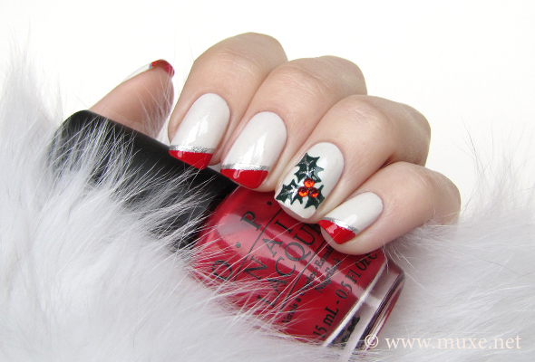 Mistletoe nails for christmas 2012 maris nail polish blog mistletoe nail art prinsesfo Image collections