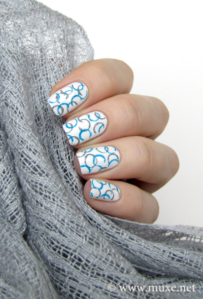 Nail art circles on white