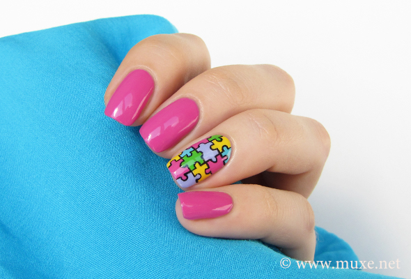 Puzzle nails for summer