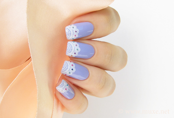 Lace french nails