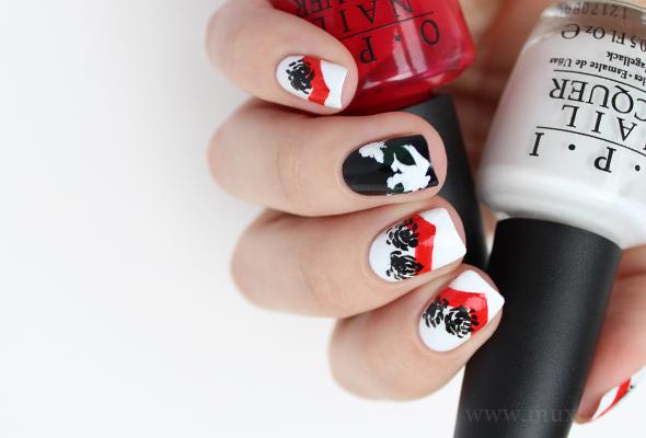 Dior inspired nail look