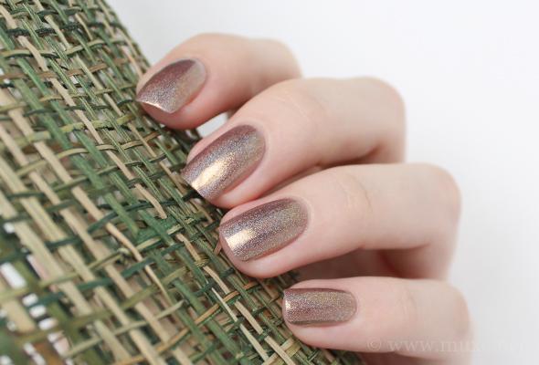 Gold holo nail polish