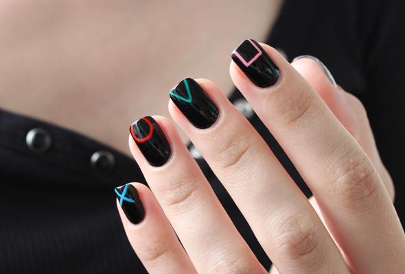 PS4 nails design (playstation 4)