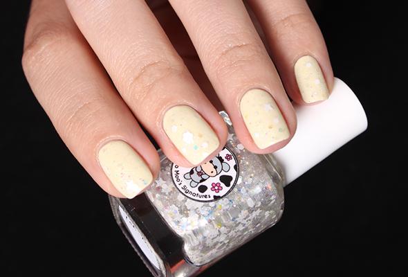 Yeti Moo Moo Moo nail polish glitter