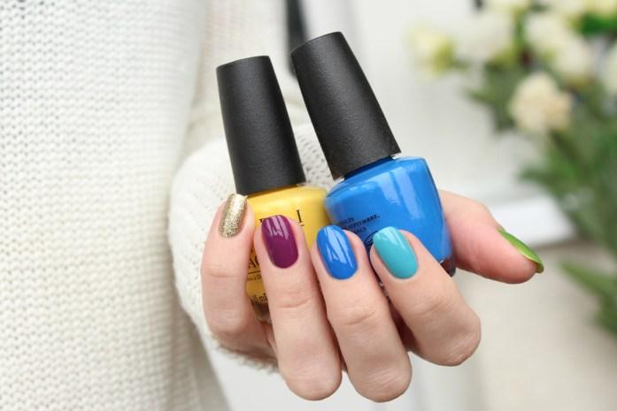 OPI nail polish rainbow palette