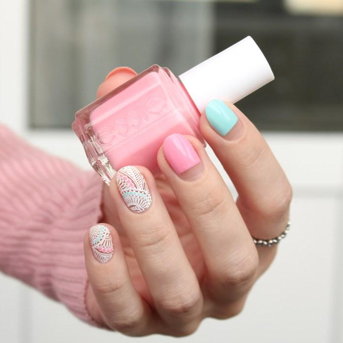 Pink Essie nail polish
