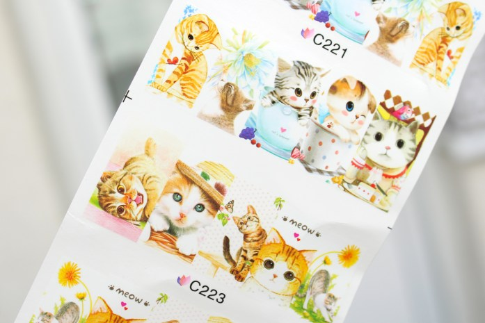 Cute cats water decals