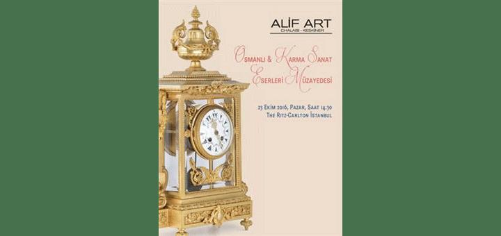 23 Ekim 2016 Osmanlı ve Karma Eserler Müzayedesi - Alif Art