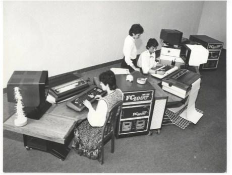 Birou computerizat, probabil in anii '80