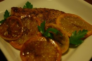 A Brown sugar Citrus tilapia