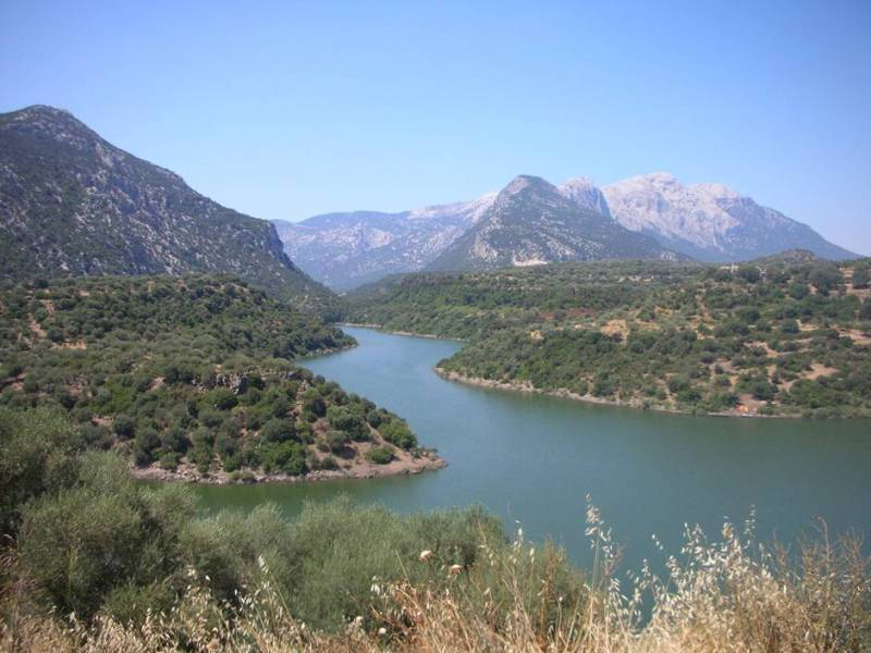 A view of Lake Cedrino from Agriturismo Canales
