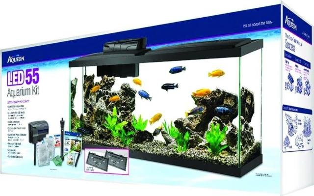 Aqueon LED 55 Gallon Aquarium Kit Review & Spec