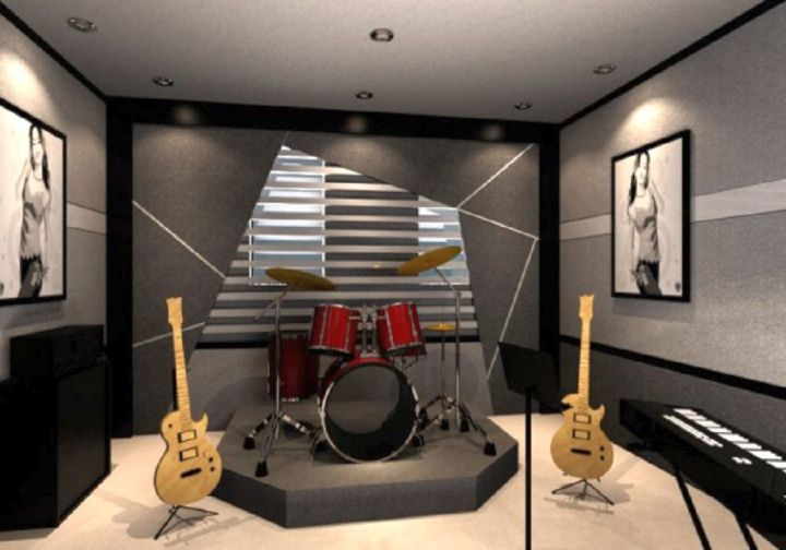 20 cozy music room designs that redefine styles for Room decorating ideas music