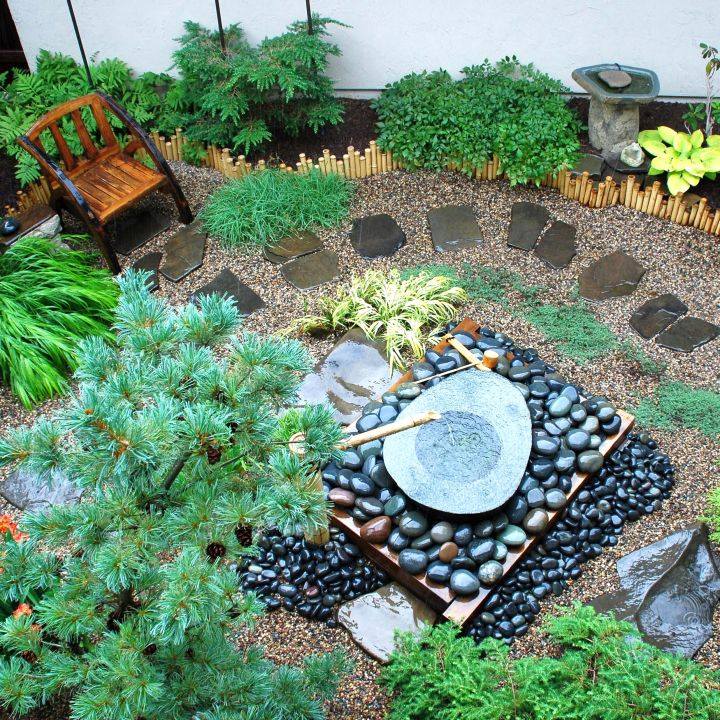 17 ideas for creating lovely small japanese garden for Small garden landscaping ideas