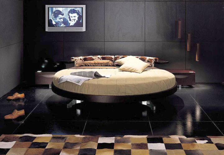 17 contemporary round bed frame designs for Round bed design