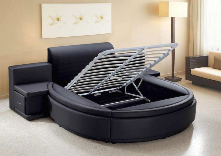 17 Contemporary Round Bed Frame Designs