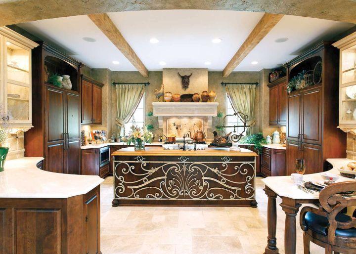 Mediterranean kitchen designs with lavish decoration for Lavish kitchen designs