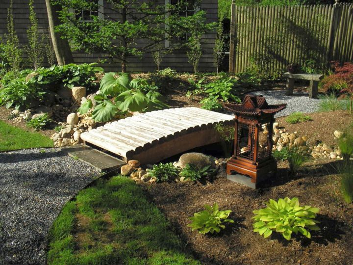 A Small Bridge For The Garden Outdoors Decoration Pond With Bridge