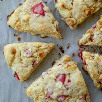 White Chocolate Strawberry Cream Scones