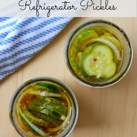 Sweet and Spicy Refrigerator Pickles