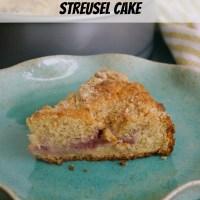 Strawberry Sour Cream Streusel Cake