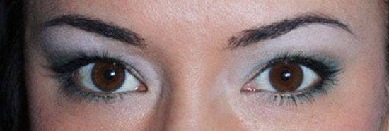 brown eyes blue eyeshadow