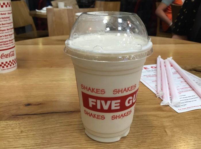Five Guys milkshake Halal Dubai