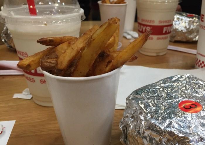 Five Guys Halal fries Dubai