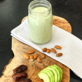 Moroccan Avocado, Almond and Date Smoothie