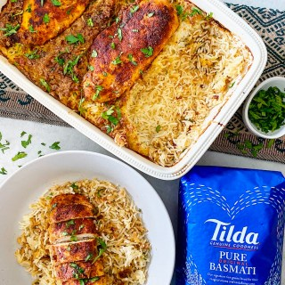TANDOORI CHICKEN AND RICE BAKE