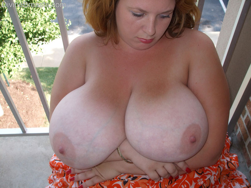 pendulous tits pushed together