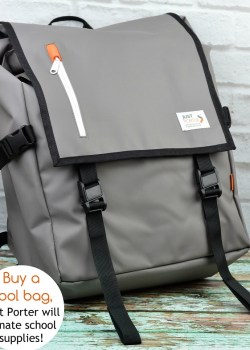 Give Back with Just Porter Backpacks