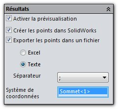 CreatePoints-Choix_Export_points