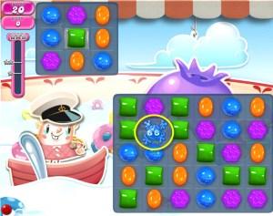 Candy Crush Saga - niveau 606 avec la grenouille