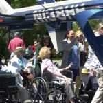 Beacon Brook residents and others got a closeup view of a LifeStar chopper then enjoyed a complimentary cookout.