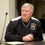 Burgess Bob Neth listens to public input about possible changes to Naugatuck's charter on Friday at the Town Hall.