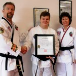 from left are Paul Sokol, chief instructor; Zachary Hodoba, and Linda Silva, certified Instructor.
