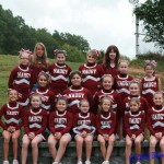 Naugatuck Hounds PeeWee cheerleaders