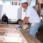 To kick off the 2010 United Way campaign at Fairfield-based GE, nearly 400 of its employees volunteered recently to help build several homes in Bridgeport and Stratford for Habitat for Humanity of Coastal Fairfield County, including Naugatuck resident John Rossi.
