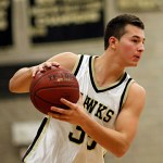 The Hawk's Ryan Angeloszek dropped a double-double on on Sacred Heart during Tuesday night's game.  - RA ARCHIVE