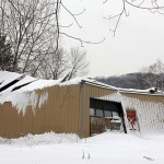 Snow on the roof of this vacant building at 1198 New Haven Road in Naugatuck caused the roof to collapse Jan. 20. The borough has issuesd a notice to demolish the building, according to the Building Department.