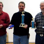From left, Brian Cloney (2nd place), Peter Monti (1st place) and  Joe Wall representing Fran Golebieski. CONTRIBUTED