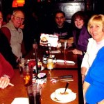 Liz Falzone, Lioness Club president, Sal Falzone and Lioness Mary Unfricht and friends enjoy a night out at TGI Friday's Feb. 23. CONTRIBUTED