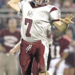 Naugatuck's Erich Broadrick threw for three touchdowns and ran for two more versus Ansonia on Thanksgiving. The Greyhounds defeated the Chargers and won the NVL title for the first time since 2001. RA ARCHIVE