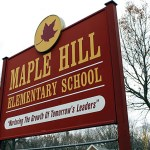 The roof on Maple Hill Elementary School won't be replaced until next summer.