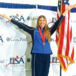 Sandra Marchant of Prospect won a bronze medal at the fencing national championship in July in Reno, Nev. CONTRIBUTED