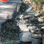 The loan Beacon Falls officials are seeking includes $125,000 to pay for repairs to Blackberry Hill Road, which was severely damaged last year from heavy rains. –FILE PHOTO